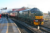 37411 'Caerphilly Castle/Castell Caerffili' approaches Cardiff Central on 4th December 2005.