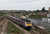 FGW Cardiff to London Paddington HST heads for the Severn Tunnel at Severn Tunnel Junction on 2nd October 2005.