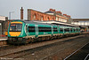 Central Trains 170102 at Worcester Shrub Hill having worked in with the 0750 from Cardiff on 15th October 2005. These former Midland Mainline units carry Central Trains branding over their former operator's livery.
