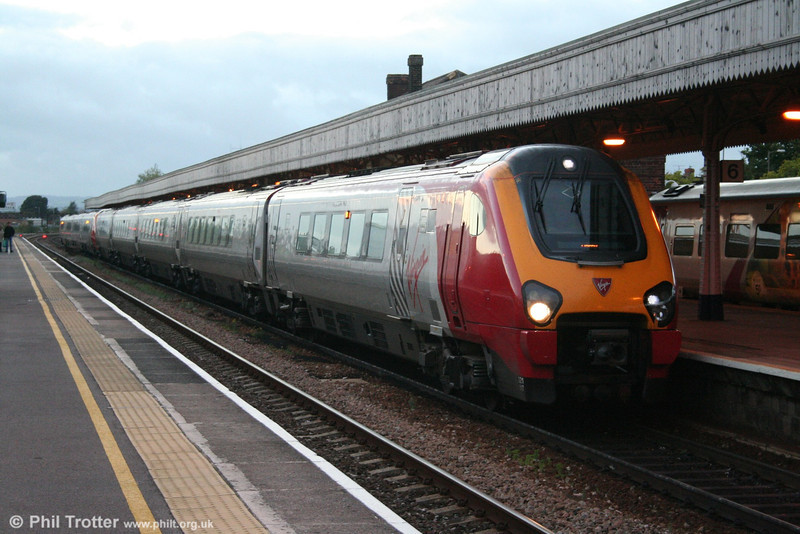 Virgin 'Voyager' 221117 at Taunton with a service for Derby on 1st October 2005.