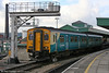 150245 leaves Cardiff Central with a City Line service for Coryton on 22nd October 2005.