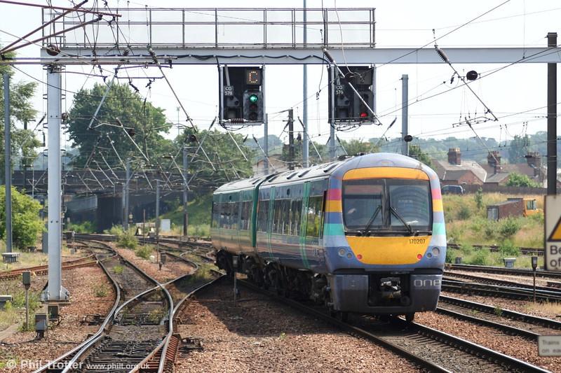 170207 departs Norwich on 1st July 2006.