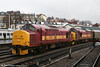 A further view of 37670 and 37669 at Newport on 29th March 2006.