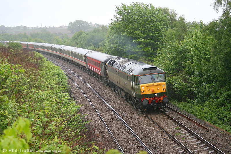 47815 'Great Western' at Llansamlet, returning from Cardiff with ECS for the 1112 Swansea - Cardiff on 27th May 2006.
