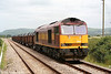 60047 at Llangennech with 6B41, the 1316 Margam - Trostre steel coils on 24th June 2006.