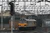 Channel Tunnel class 92 no. 92039 'Johann Strauss' waltzes through Stafford on 23rd February 2006.