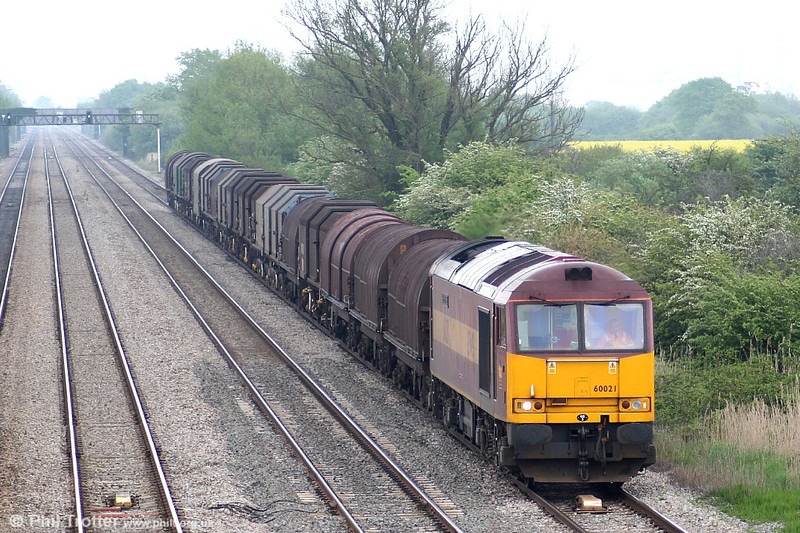 60021 'Star of the East' at Coedkernew on 13th May 2006 with 6V75 the 0930 Dee Marsh - Margam.