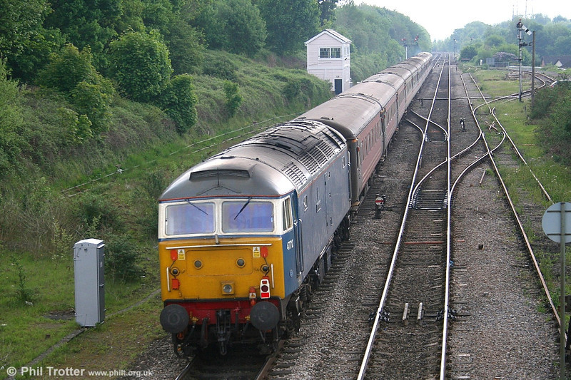 FM Rail's 47712 'Artemis' brings up the rear of the 0817 Liverpool - Cardiff football special on 13th May 2006.