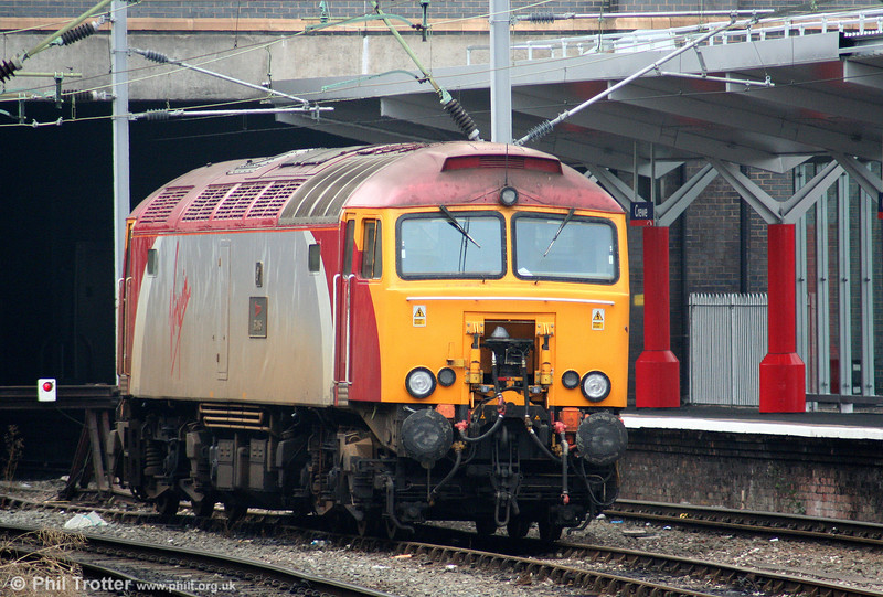 Virgin class 57 Thunderbird 57309 'Brains' waits at Crewe, ready to haul a 'Pendolino' along the North Wales coast on 5th August 2006.