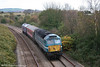 Cotswold Rail's 47714 - still carrying Anglia livery - passes Llansamlet on 2nd November 2006 with 5Z87, the 1200 Gloucester to Swansea Landore TMD, conveying newly MTU-fitted FGW power car 43125.