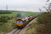 66196 heads away from Onllwyn with 6O31, the 0840 Onllwyn Washery to Aberthaw Power Station on 13th September.