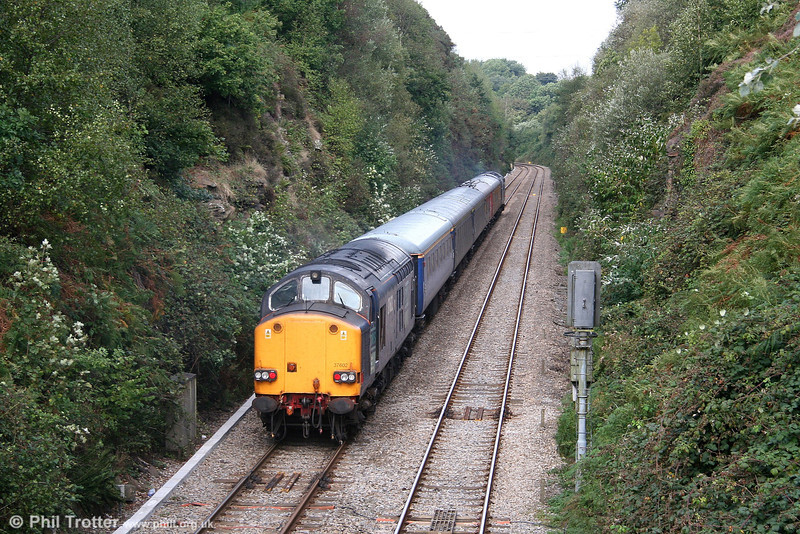 DRS 37602 brings up the rear of Serco test train 1Z14 at Llandarcy on 13th September 2006.