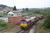 Highest numbered of the EWS class 66s, 66250 passes Tondu Signal Box on 17th September 2006 with the diverted 6H32, the 1040 Llanwern - Margam steel empties. The train is seen coming off the Ogmore Valley branch where the loco had run around the train and is taking the line to Margam.