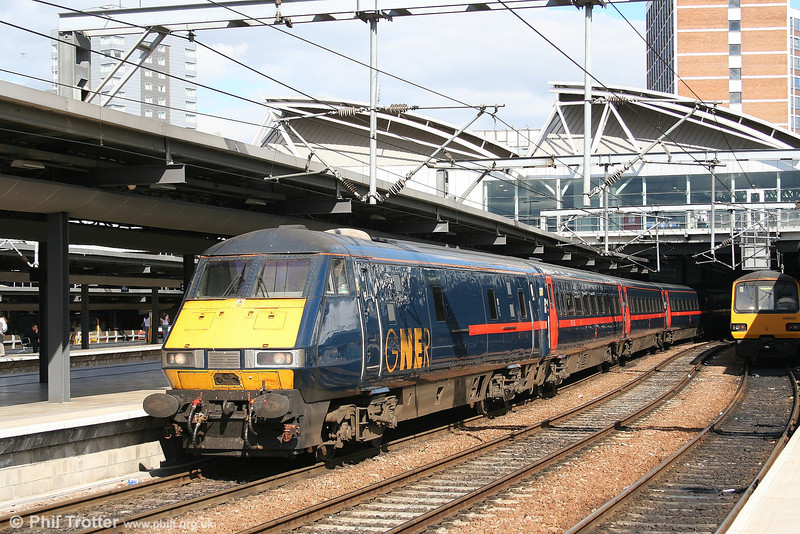 GNER DVT 82212 heads the 1505 service to King's Cross away from Leeds on 7th September 2006.