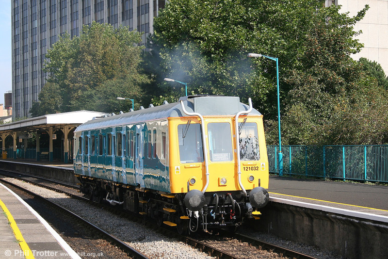 Fifteen minutes later than the previous picture, 55032 leaves Queen Street again, this time with the 1127 for Cardiff Bay. 16th September 2006.