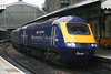 MTU fitted and reliveried FGW 43094 at Paddington with the 1615 service to Swansea on 18th October 2006.