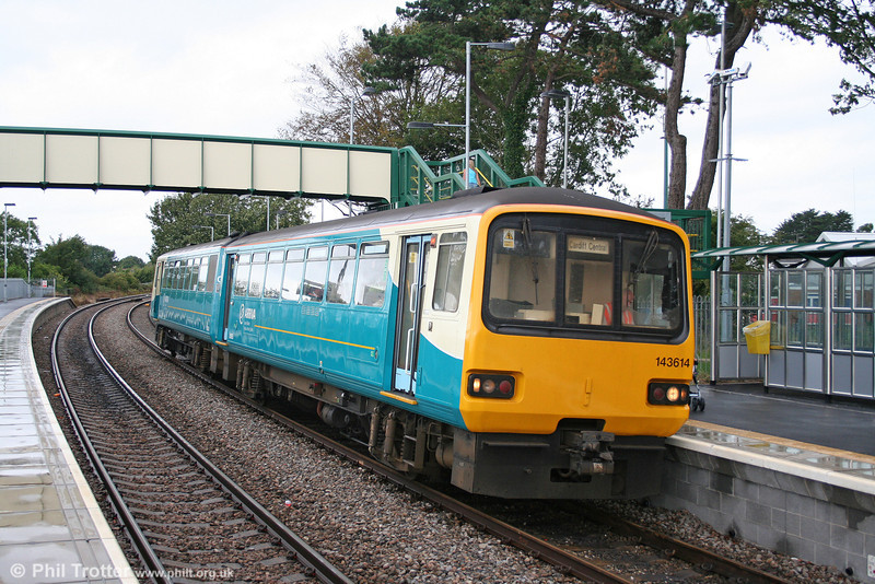 143614 at Llantwit Major while working the 1042 service from Bridgend on 2nd September 2006.