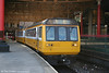Northern's Merseyrail liveried 142051 prepares to leave Manchester Victoria with the 1515 for Shaw & Crompton on 9th September 2006.