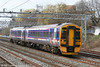 First Scotrail's 158741 heads south through Tamworth on 30th March 2006. The unit was on a transfer run from Scotland to the Wessex area; First took over Wessex operations from 1st April, 2006.