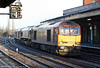 60043 heads a convoy of locomotives through Newport on 25th November 2006.