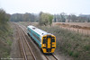 Recently reliveried 158823 at Llanover with the 1608 Cardiff - Abergavenny short working on 9th April 2007.