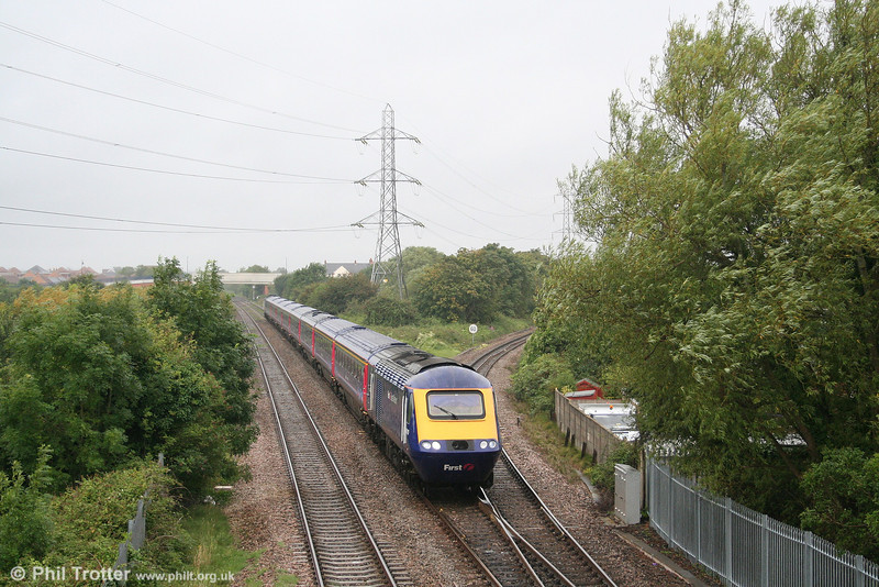 FGW 43010 passes Worle Junction forming the 0938 Paignton to London Paddington - shown in the timetable as 'The Torbay Express' - on 18th August 2007.