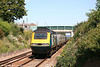 MML 43046 near Yatton with VXC's 1V49, 0941 Newcastle Central to Newquay on 11th August 2007. It remains to be seen whether the practice of hiring in HST sets for summer Saturday services will continue once Arriva take over the VXC franchise.