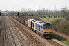 Mainline blue liveried 60078 with what appears to be 6M41, Margam - Round Oak at Coedkernew on 1st April 2007.