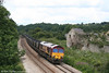 66098 passes Llangewydd with 7C79, 1003 Parc Slip to Westbury Cement Works on 30th July 2007.