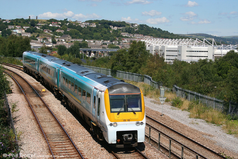 ATW's 175110 approaches Swansea Loop East with the 1305 Carmarthen to Manchester Piccadilly on 31st July 2007.