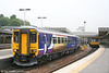 The more recent version of Northern's new livery incorporates scenes from locations across the network. Newly outshopped 156484 promotes the Settle and Carlisle line as it leaves Sheffield forming the 0841 service to Bridlington on 4th May 2007.
