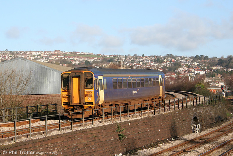 153310 passes Landore with a Heart of Wales Line service on 1st March 2007.