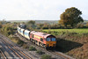 59204 'Vale of Glamorgan' has just crossed Bishton Flyover with 6C80, 1310 Machen to Westbury Yard on 10th November 2007.
