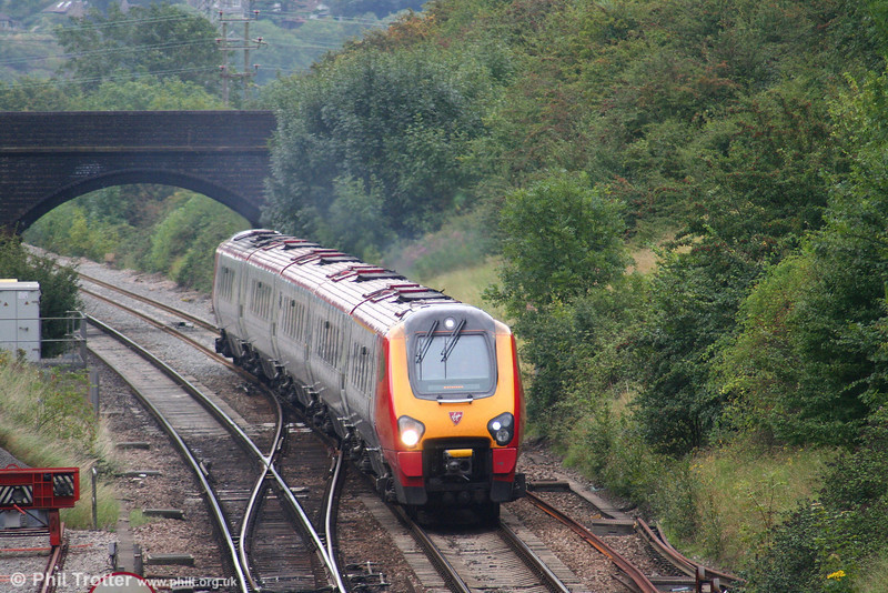 A VXC class 221 'Super Voyager' on the 1010 Glasgow Central to Paignton, near Bristol Parkway on 1st September 2007.