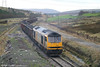 60073 arrives at the remains of Onllwyn station with its load of coal from Parc Slip on 20th January 2007.