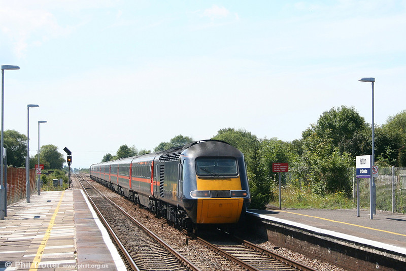 GNER 43102 'Diocese of Newcastle' at Yatton with VXC's 1E47, 0940 Newquay to Newcastle on 11th August 2007. On this day the service actually started from Par, and was by this time some 35 minutes down, having been waiting for passengers to arrive by road.