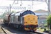 DRS 37194 at Carlisle Yard with 6C42, 1150 Sellafield - Carlisle Yard acid tanks on 3rd May 2007.