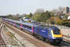 MTU 43158 heads through Magor with one of FGW's refurbished 'High Density' sets, forming the 1255 Cardiff - London Paddington on Easter Sunday, 8th April 2007.