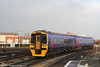 Refurbished 158761 arrives at Bristol Temple Meads forming the 1440 Filton Abbey Wood to Weston-super-Mare on 8th December 2007.
