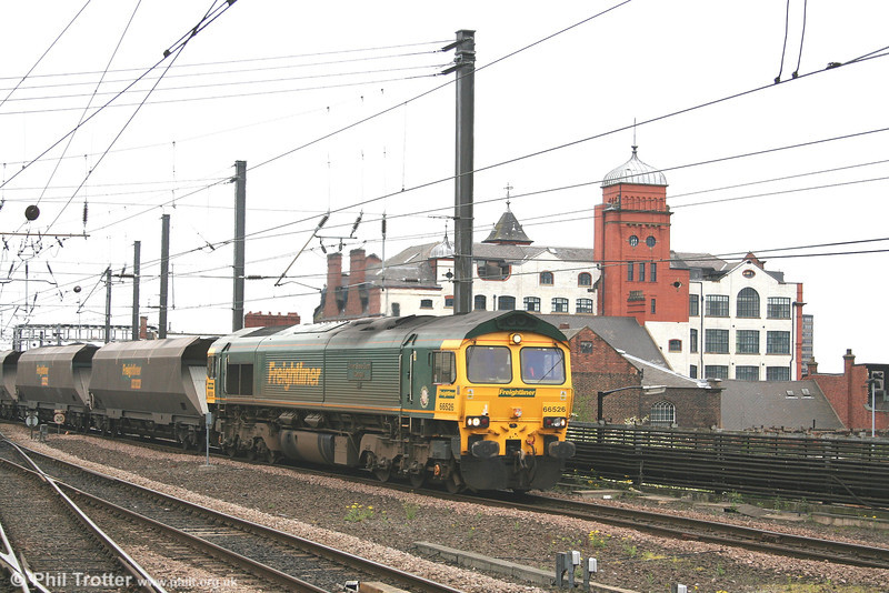 66526 'Driver Steve Gunn' passes Newcastle with coal from Tyne Dock on 4th May 2007.
