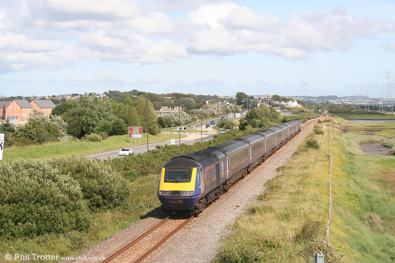 43189 'Railway Heritage Trust' brings up the rear of the 1505 Pembroke Dock to London Paddington at Loughor on 14th July 2007.