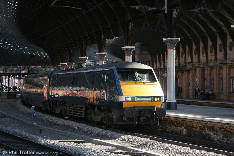 GNER 91106 'East Lothian' at York with the 1430 King's Cross - Newcastle on 1st May 2007.