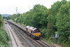 66063 approaches Bristol Parkway with an engineers' train heading for Newport on 1st September.