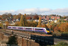 Against a backdrop of autumn colours, FGW's Adelante 180111 departs from Newport forming the 0955 Cardiff to London Paddington on 2nd November 2007.