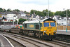 Freightliner 66542 at Newport with 4O51, 1002 Wentloog to Millbrook on 6th August 2007.