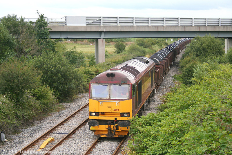 60500 'Rail Magazine' arrives at Trostre with 6B12, 1420 Margam - Trostre steel coil on 15th July 2007.