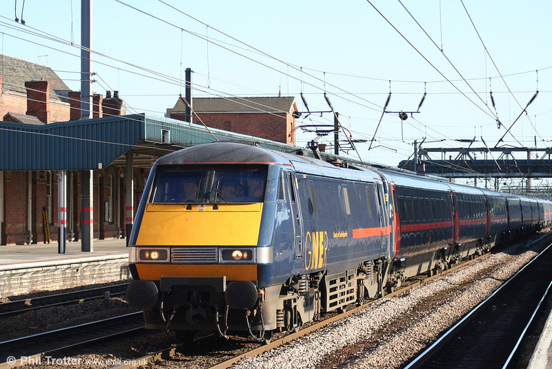 91112 'County of Cambridgeshire' at Doncaster with the 1610 King's Cross - Leeds on 30th April 2007.