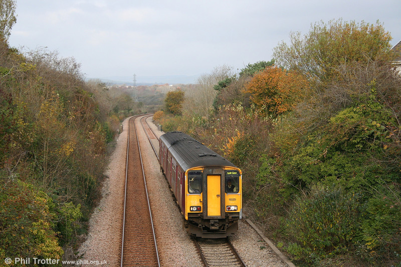 ATW's former FGW 150251 at Ewenny with the 1143 Bridgend to Cardiff via the Vale of Glamorgan on 4th November 2007.