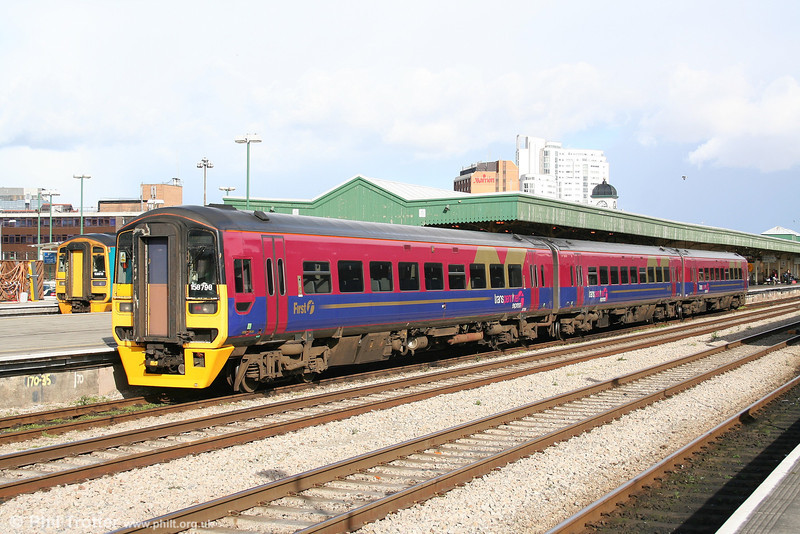 TPE 158798 at Cardiff Central with the 1530 service for Portsmouth Harbour on 19th March 2007.