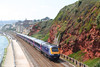 43029 and a full refurbished set on the sea wall at Dawlish forming the 1055 Penzance to London Paddington on 8th September 2007.